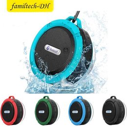 $enCountryForm.capitalKeyWord Australia - Bluetooth Wireless Speakers Waterproof Shower C6 Speaker with 5W Strong Driver Long Battery Life and Mic and Removable Suction Cup