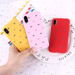 Wholesale For Iphone Xr Xs Max Phone Case Smart Eyes Funny X Plus Trypophobia Trend Silicone Matte Soft Cell Phone Case