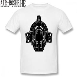Discount star trek shirts - Star Trek T Shirt Star Trek Stencil USS Defiant T-Shirt Printed Classic Tee Shirt Oversized Short-Sleeve Cotton Funny Ts