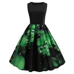 4c6a5e05371d New Style Dresses Women St Patrick's Day Sleeveless Casual Party Prom Swing  Dress Drop Shipping Vestido Navidad #15
