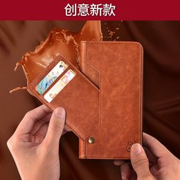 Nails apple online shopping - professional mobile phone case suppliers movable card slot leather phone case with photo slot iPhone XS retro nail front card phone case