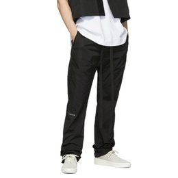 Wholesale black hip hop baggy sweatpants for sale – dress 2019 Hip Hop Nylon Baggy Pants Overlong Belted Sweatpants High Quality Kanye Streetwear