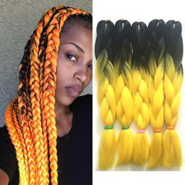 two tone braid hair UK - Ombre Xpression Braiding Hair Two Tone Jumbo Crochet Braids Synthetic Hair Extensions Blue Green Ombre Kanekalon Braiding Hair 24 Inch 100g