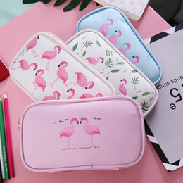$enCountryForm.capitalKeyWord Australia - Flamingo Cosmetic Pencil case Kawaii Multifunction Cosmetic Bags Large Capacity For Girl Supplies Stationery Gifts Free Shipping
