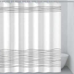 $enCountryForm.capitalKeyWord Australia - 2019 Hot Household contracted Dacron shower curtain with digital printing Waterproof shower curtain Bathroom products Household necessity
