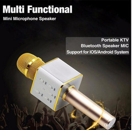 Battery wireless microphone online shopping - Q7 Wireless Microphone Bluetooth Speaker with mAh Large Capacity Battery Karaoke Loudspeaker for Iphone7 plus Xiaomi Samsung Smartphones