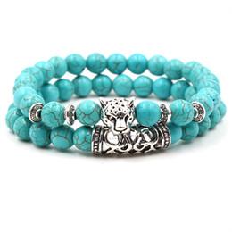 men luck bracelet 2019 - Natural Stone Beads Silver Animal Skull Bracelets Elastic Force Men Women Bracelet Jewelry Luck Chakra Yoga Beads Christ