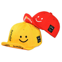 89a94dd8cb52 Baby hat spring 2019 New Cute smiley face alphabet Baby Hat Cotton overhang  childrens baseball cap