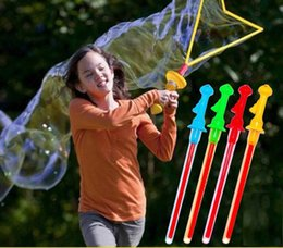 Toy Swords Wholesale NZ - Hot sale outdoor toy Large Bubble Western Sword Shape Bubble Sticks Kids Soap Bubble Toy Outdoor Toy Free shiipping