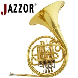 $enCountryForm.capitalKeyWord Australia - Professional JAZZOR JBFH-700 French Horn B Flat Separated Bell brass body 4 key French horn entry model Gold Lacquer instruments