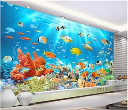 underwater 3d wallpaper Australia - mural 3d wallpaper 3d wall papers for tv backdrop Underwater world 3D background wall
