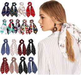 $enCountryForm.capitalKeyWord Australia - 15pcs lot drop shipping summer Ponytail Scarf Elastic Hair Rope for Women Hair Bow Ties Scrunchies Hair Band Flower Print Ribbon Hairband