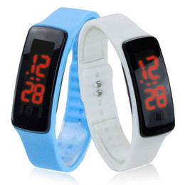 touch screen sport bracelet NZ - DHL Girl Boy Kids Colorful Sport LED Watches Candy Jelly Men Women Silicone Rubber Touch Screen Digital Watch Bracelet utop2012 Wristwatch