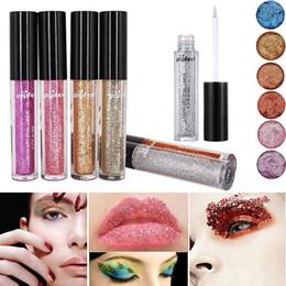 $enCountryForm.capitalKeyWord NZ - Factory 12 Colors Lipstick Single Eyeshadow Long Lasting Liquid Glitter Eye Shadow Lipstick Face Body Makeup Eye Shadow Fashion Party Powder