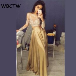 46ea7241034d9 Wbctw Satin Ruffle Long Gold High Waist Elegant Party Women Skirt Solid  Xxs-10xl Plus Size Maxi Skirts Q190508
