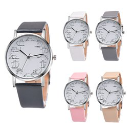 Cat design watChes online shopping - 2019 Retro Design Lovely Cartoon Cat Leather Band Analog Alloy Quartz Wrist Watch Leather clock lover Watches