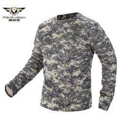 Quick Dry Shirts For Men Australia - 2018 New Tactical Military Camouflage T Shirt Men Breathable Quick Dry Us Army Combat Full Sleeve Outwear T-shirt For Men S-3xl C19041301