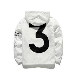 yeezus tour jacket 2019 - New KANYE Jacket Men KANYE Hip Hop Windbreaker TOUR 3 Jackets Women Streetwear Fashion Outerwear uniform coat black Whit