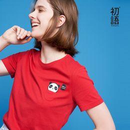 T Shirt Panda Australia - Toyouth Kawaii Panda Print T-shirt Women Funny Pocket Animal Series Summer Tops Short Sleeve Cotton Tee Shirt Femme Ins T-shirts J190424