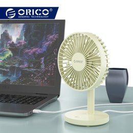 Gadgets For Office Australia - ORICO Desktop Mini USB Fan USB 3 Level Air Cooling Aluminum mini Fan for Home Office Student Dormitory Gadget