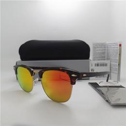 $enCountryForm.capitalKeyWord NZ - High quality Glass lens 51MM Brand Designer Fashion Men Women Plank frame Coating Sunglasses Sport Vintage Sun glasses With box