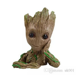 $enCountryForm.capitalKeyWord NZ - Funko POP! Pen container Marvel: Dancing Groot flowerpot Action Figure PVC Toys Doll