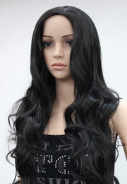 straight bangs wavy hair 2019 - LL 0000120 Full of fashion points no bangs synthesis of female long wavy off black hair wig discount straight bangs wavy