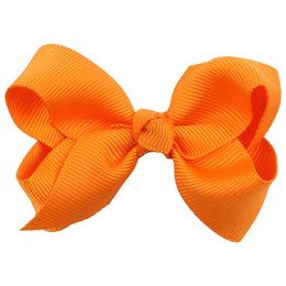 $enCountryForm.capitalKeyWord UK - $1 links 3 Inch Soild Kids Girls Ribbon Hair Bow Clips with Hairpins Boutique Hairclips Hair Accessories Handmade Princess Headwear 3pcs