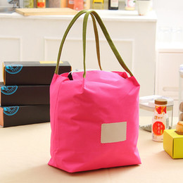 Waterproof rolling box online shopping - Leisure Time Oxford Lunch Box Bag Heat Insulation Collapsible Pure Color Wrap High Capacity Waterproof Picnic Package Portable jmb1