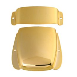 fender basses UK - Zinc Alloy Pickup & Bridge Plate Cover Set for JB Electric Bass Guitar (Gold)