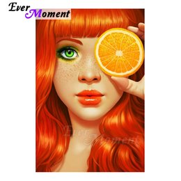 $enCountryForm.capitalKeyWord Australia - Ever Moment Diamond Painting Cross Stitch Handmade Full Square Drill Picture Of Stone Diamond Embroidery Woman Lemon S2f1743 Y19062704