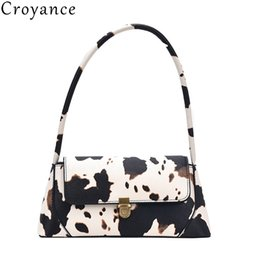 cooler handbags Australia - Croyance New Fashion Design Women Shoulder Bag PU Leather Female Handbags Cool Girls Totes Vintage Purse Cute Cow Dots Printed