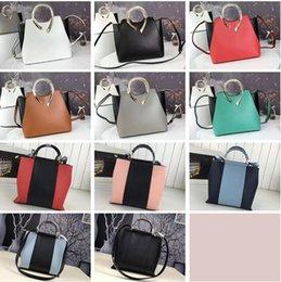 $enCountryForm.capitalKeyWord Australia - Hight Quality Fashion Luxury Genuine Leather Female Handbags Two-tone Single Shoulder Bags Simplicity Decent Casual Brand Design Tote