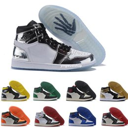 ea089a0564a9 Men Basketball Shoes 1 High OG Bred Toe Banned Game Royal Basketball Shoes  Men 1s Top 3 Shattered Backboard Shadow Sneakers High Quality