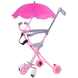 Mother & Kids Five Flash Wheels Baby Umbrella Car Baby Walking Carrier Children Trolley Portable Folding Three Wheels Stroller Tricycle 1-6 Y Activity & Gear