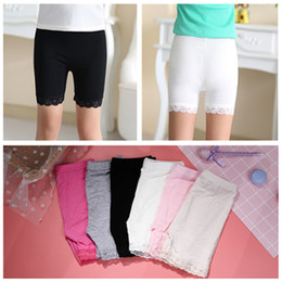 girl tight cotton short NZ - Children modal cotton shorts lace short leggings for girls safety pants baby short tights girls safety pants anti-light shorts 6 color