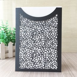 $enCountryForm.capitalKeyWord Australia - 20PCS  lot Luxury Wedding Invitation Cards Hollow Lace Laser Cut Envelope Engagements Marriage Party With Lovers Supplies