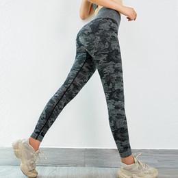 $enCountryForm.capitalKeyWord Australia - Women Camo Seamless Leggings High Waist Yoga Pants Stretchy Squat proof Gym Tights Sport Trousers Fitness Leggings Running Pants