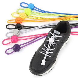 Elastic Lock Shoelaces UK - Shoelaces Unisex Elastic Shoe Laces For Men Women All Sneakers Fit Strap Sport Shoes Reflective Buckle lazy lock laces white