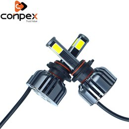 $enCountryForm.capitalKeyWord Australia - New 2pcs Car Headlight Bulbs LED 3200Lm H4 H7 LED Canbus Car Lights Two Ways Vortex Air Cooling System Four Sided Lamp Beads