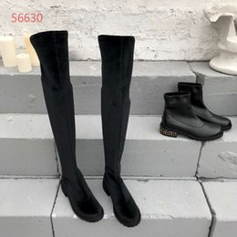 Comfortable Knee High Boots Australia - European Station Chao brand suede stretch fashionable knee boots, high-quality comfortable air women's boots, size 35-39