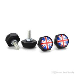 $enCountryForm.capitalKeyWord UK - Black UK GB Flag Automobile Exterior Decoration Anti-theft Screw Plate Frame Sealing Screw License Plate Frame Screw License Plate Bolt