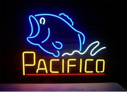 Night Fishing Glasses Australia - New Star Neon Sign Factory 17X14 Inches Real Glass Neon Sign Light for Beer Bar Pub Garage Room Pacifico fish.