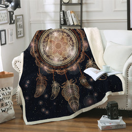 dreams beds NZ - Dream catcher Throw Blanket On The Bed Galaxy Boho Sherpa Fleece Blanket Luxurious Velvet Plush Sofa Plaid Manta