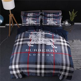 $enCountryForm.capitalKeyWord Australia - Boutique Men Bedding Sets New Arrive Printed Bed Cover Sets Horse Print American Sheets Suit 4 Pieces