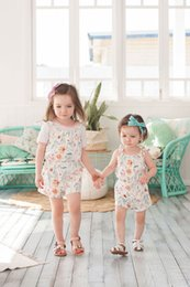Girls Shorts Braces NZ - Ins Summer 2019 Girls Suspenders cotton floral baby Jumpsuit girls Braces Suspenders kids shorts kids designer clothes girls clothes A4961