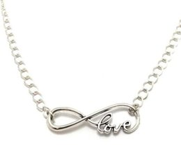 Necklaces Pendants Australia - Infinite LOVE Necklace Pendant Vintage Silver Charms Choker Collar Fashion Statement Necklaces Women Jewelry Girl Fine Gift Accessories