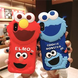 3d Rubber Case Australia - For iPhone 8 7 6 XR XS Max New Designer 3D Cute Cartoon Sesame Street Soft Rubber Silicone Shockproof Drop Protection Kawaii Bumper Case