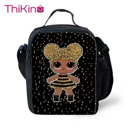$enCountryForm.capitalKeyWord Australia - Thikin Princess Cartoon Cooler Lunch Box Portable Insulated Lunch Bag Tote PouchThermal Picnic Bags For Women Kids