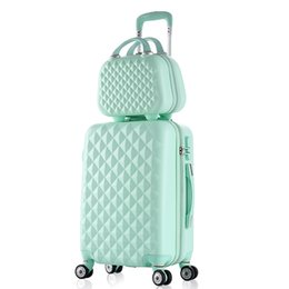 $enCountryForm.capitalKeyWord Australia - 2PCS SET fashion Cosmetic bag 20 22 24 28 inch girl students trolley case Travel spinner Password luggage woman rolling suitcase
